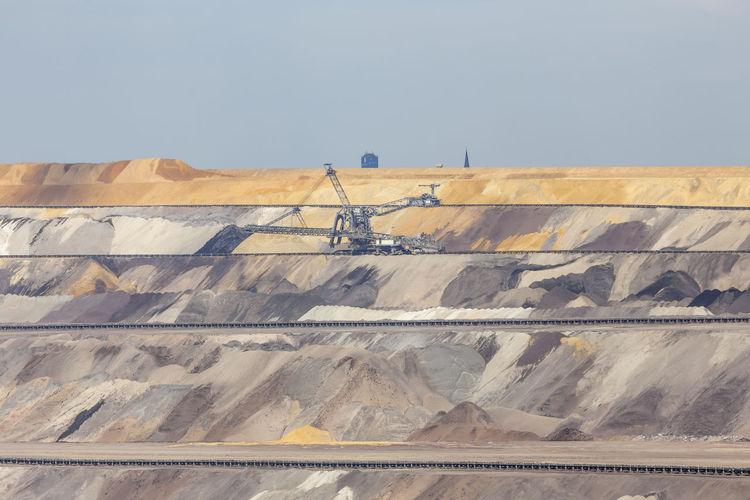 open-cast mining Braunkohle Braunkohletagebau Coal Mine Excavator Schaufelradbagger Coal Excavation Germany Mining Open-cast Mining Paddle Wheel Excavator