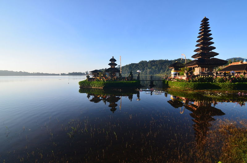 Agus_harianto_photography Agushariantophotography Architecture Arrival Business Finance And Industry Day Lake Nature No People Outdoors Reflection Reflection Lake Sky Sunset Tourism Tranquility Travel Travel Destinations Tree Ulun Danu Temple Water