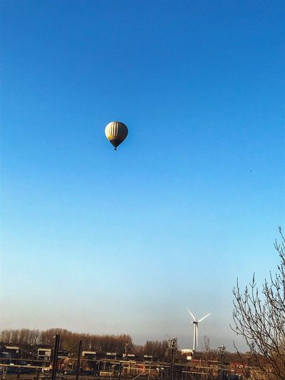 «Every great dream begins with a dreamer» Freedom Sky Flying Blue Transportation Mid-air Air Vehicle Nature Hot Air Balloon Clear Sky