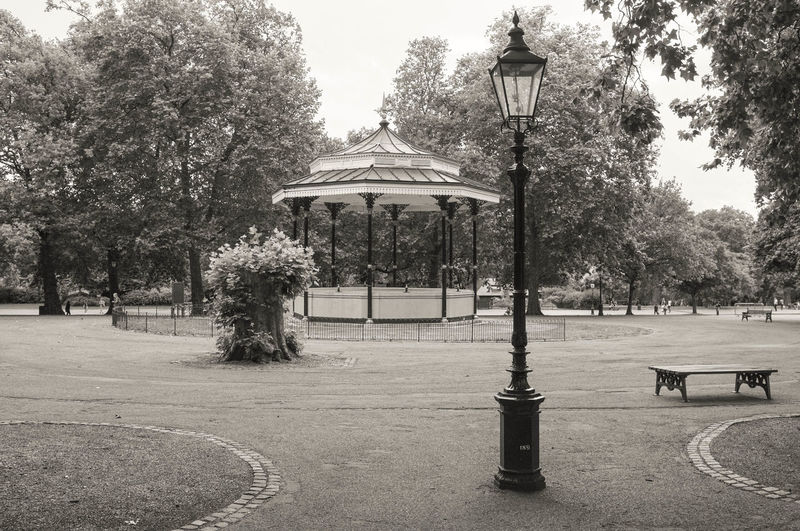 Hyde Park Bandstand Absence Architecture Bench Built Structure Clear Sky Day Empty Footpath Gazebo Growth Hyde Park, London Incidental People Lighting Equipment Nature Outdoors Park Park - Man Made Space Shadow Street Light Sunlight Tree