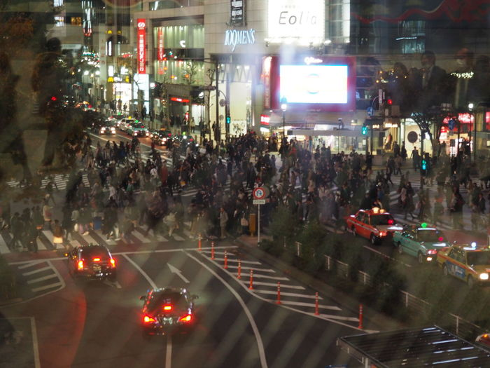 Architecture Building Exterior City City Life Crowd Illuminated Japan Land Vehicle Large Group Of People Men Night Outdoors People Real People Shibuya Shibuya Crossing Street Transportation Women Mobility In Mega Cities
