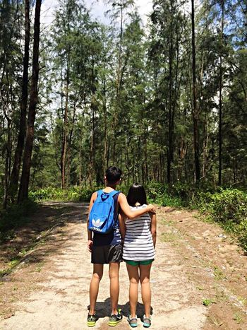👫 Nature Couple Hanging Out Check This Out Coney Island Singapore Backview Love Happiness Sunny Nature Photography Beautiful