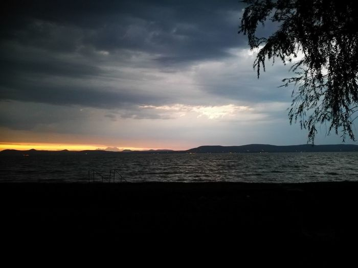 Sunset Nature Water Horizon Over Water Cloud - Sky Dramatic Sky Sunset_collection Storm Cloud Stormy Weather Stormy Sunset Balaton - Hungary Balatonlelle Balaton Stormy Lake Lake Sunset Landscape