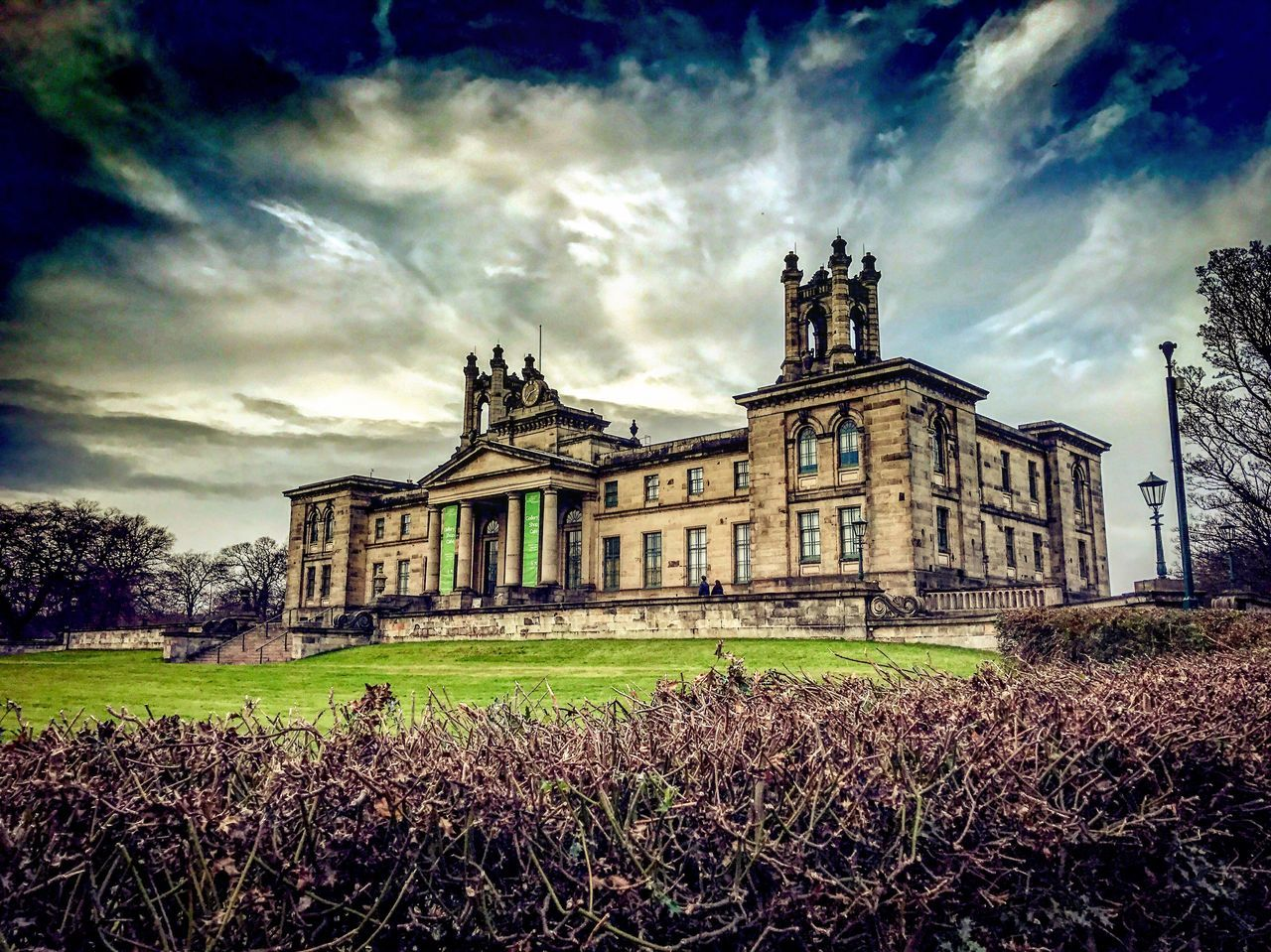 architecture, sky, grass, field, built structure, building exterior, abandoned, cloud - sky, history, religion, spirituality, place of worship, nature, landscape, outdoors, rural scene, no people, scenery, day