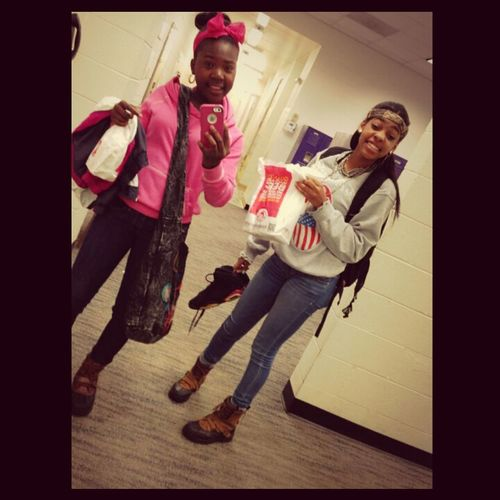 coolin' with Simone the other day