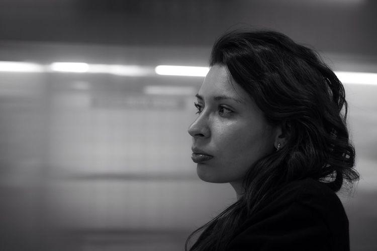 Monochrome Light And Shadow Blackandwhite Portrait