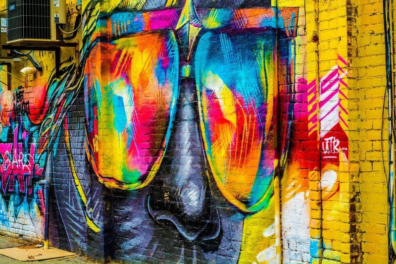 Cool Shades Graffiti Street Art Colors Girl