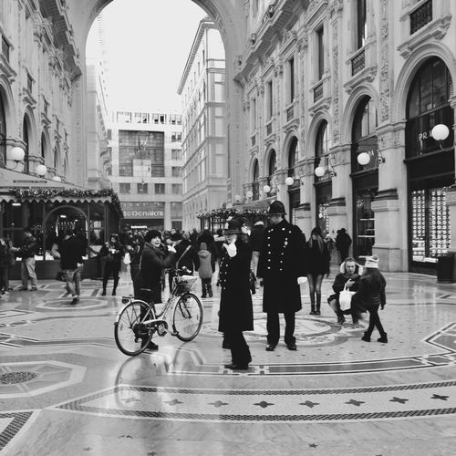 Milan City Group Of People Architecture Building Exterior Street Crowd Built Structure Real People City Life City Street Outdoors Lifestyles Transportation Large Group Of People