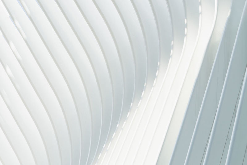 Full frame shot of modern building ceiling