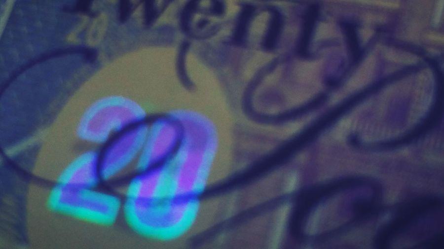 Hologram Holographic Cash Money Paper Money Note Banknote Score 20 Twenty Quid Twenty Pound Note