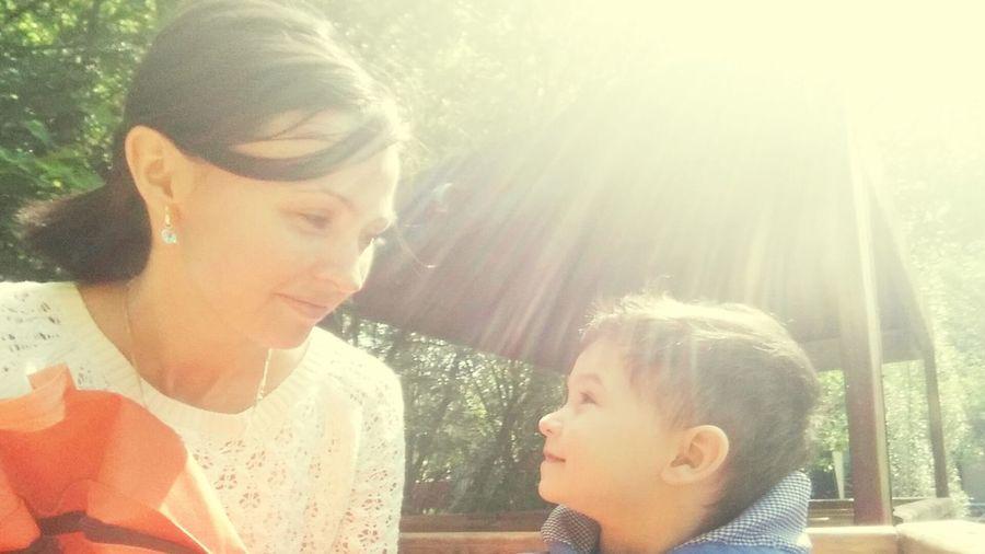 Я и мой сын. Мы очень счастливы.