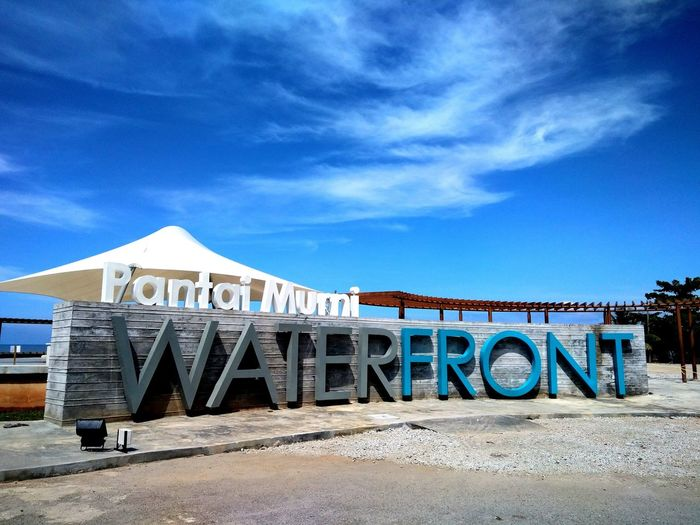 Water Front Pantai Murni Waterfrontview City Arts Culture And Entertainment Blue Rollercoaster Text Sky Architecture Built Structure
