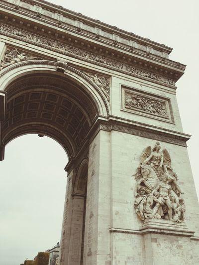 Arc De Triomphe, Paris Architecture Travel Destinations Low Angle View