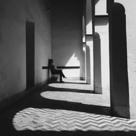 Creative Light And Shadow Blackandwhite Black & White Palais Bahia IPhoneography Iphoneonly Iphonesia Marrakech Marrocco Contrast