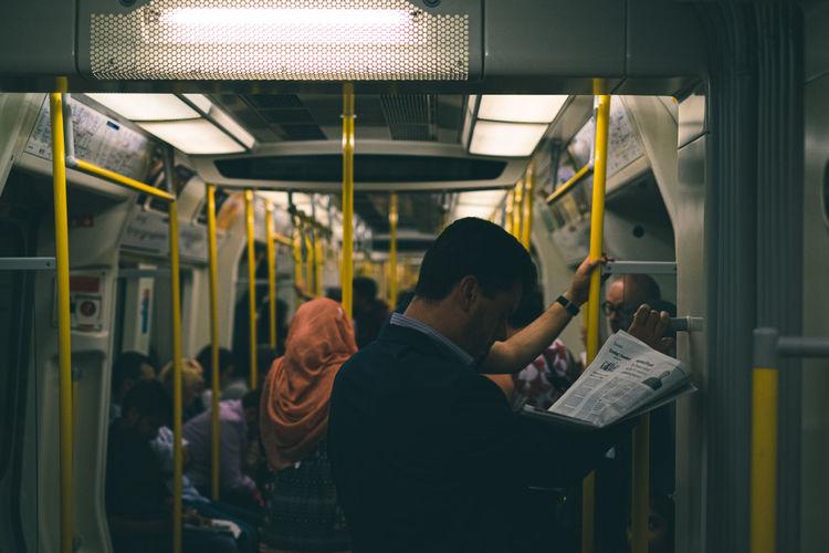 People sitting in train