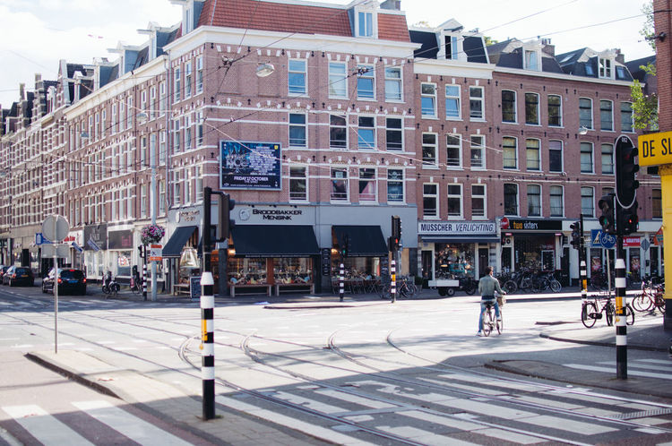 Amsterdam, last year. Architecture Building Exterior Built Structure City City Life Day Large Group Of People Outdoors People Sky Street