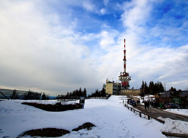 Winter Snow Cold Temperature Travel Tree Outdoors Nature No People Business Finance And Industry Industry Sky Day Radio Tower