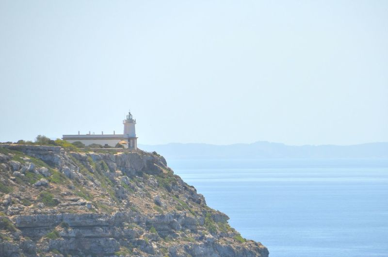 A lighthouse at
