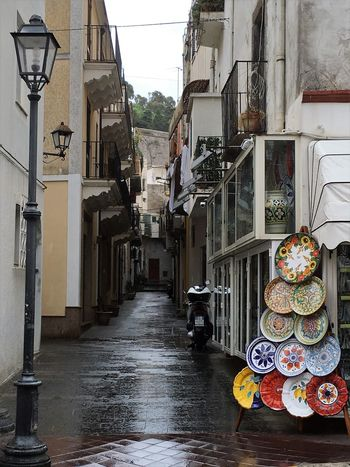 Alleyway Architecture Building Exterior Built Structure Day No People Outdoors Rainy Day Sicily, Italy