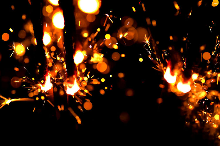 Blurred Motion Bonfire Burning Close-up Flame Glowing Heat - Temperature Illuminated Long Exposure Motion Night No People Outdoors