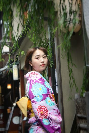 Allure ... one of the beautiful and traditional girls, a Maiko Of Kyoto agreed to my request for a photo. Beautiful Woman Portrait Young Adult EyeEm Selects Capture The Moment Streetphotography Street Photography Been There.