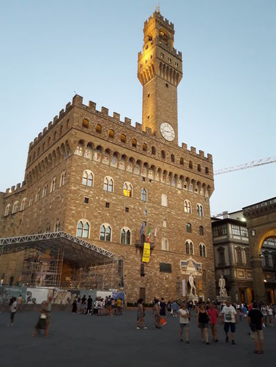 Firenze Architecture Building Building Exterior Built Structure City Clear Sky Clock Crowd Group Of People History Italy Large Group Of People Men Nature Outdoors Real People Sky The Past Tourism Tower Travel Travel Destinations Varda Women