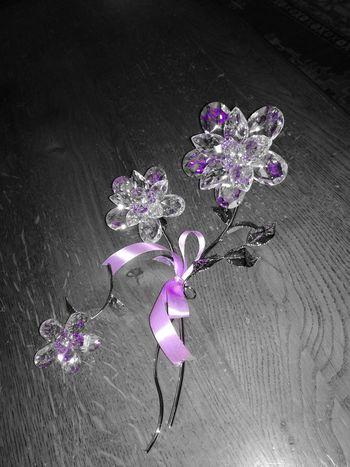 Purple Picoftheday Splash Blackandwhite Swarosky Flower Gifts ❤ Beautiful Loveit♥