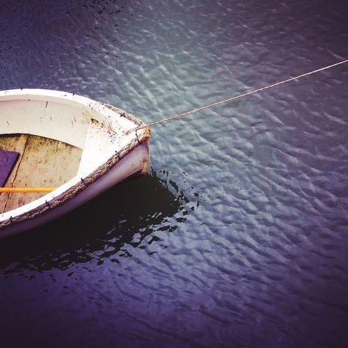 Moored Single Object Fishing Boats Ripples Sea Water Boat Water High Angle View Day No People Nautical Vessel Outdoors Sea