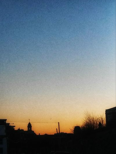 Sunset ~ In Portland Maine USA My Unique Style Springtime Happiness Nature_perfection Loving The Sky Nature Lover Tranquility Color Of Life Loving The Landscape No People Beauty In Nature City Sunset Silhouette Sky Architecture Building Exterior Built Structure Urban Skyline
