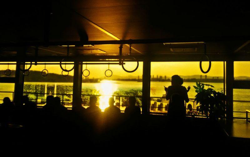 渡轮 黄昏