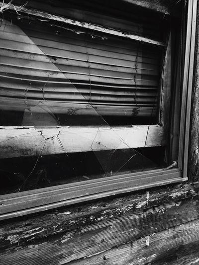 broken Window Broken Glass Blackandwhite