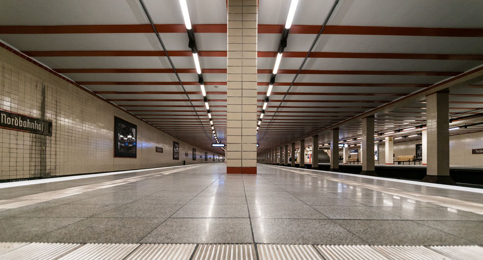 Architecture Berlin Photography Berliner Ansichten Built Structure Ceiling Day Empty Illuminated Indoors  Low Angle View Modern No People S-bahnhof Station Subway Station Underground Station