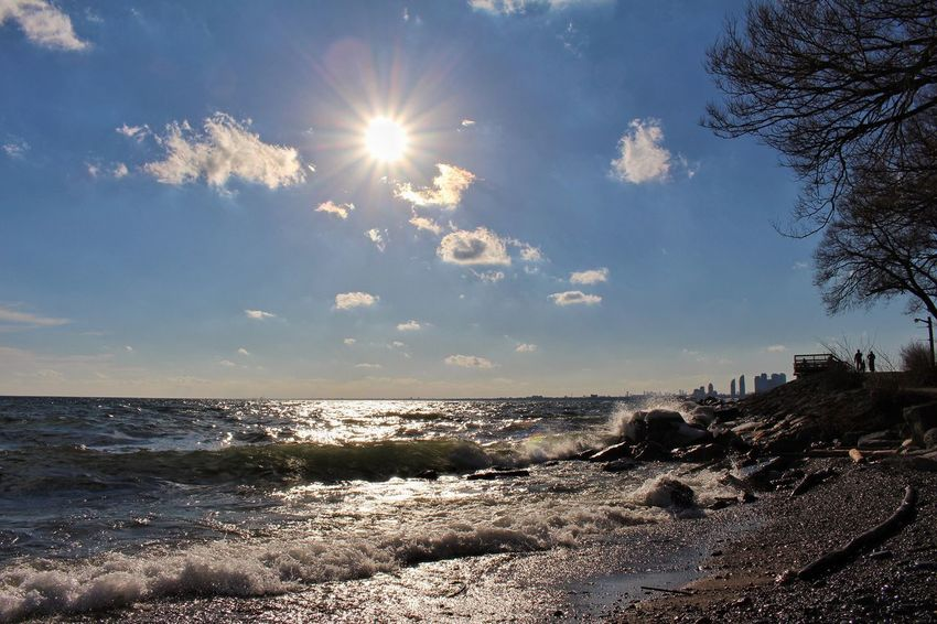 Lake Water Sky Horizon Beauty In Nature Horizon Over Water Sunlight Sun No People Cloud - Sky Nature Outdoors