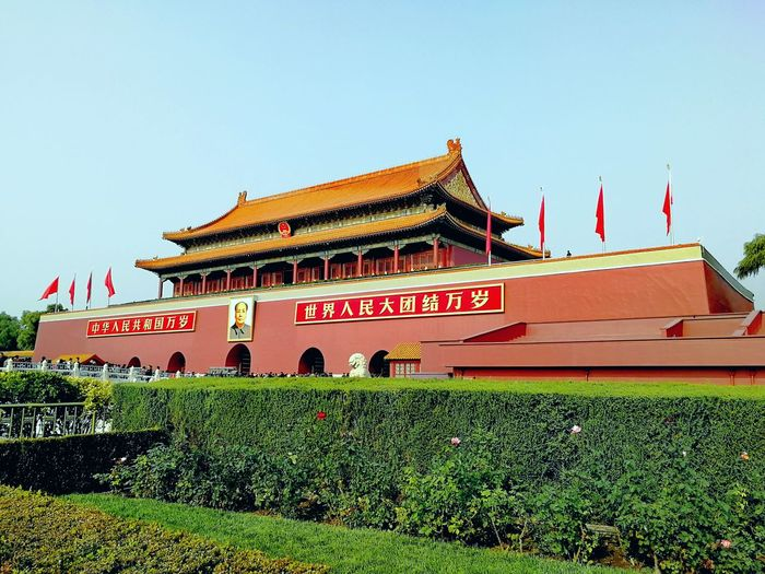 Tian An Men Flag Palace Architecture Outdoors EyeEmNewHere