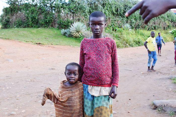 Kyamuhunga Uganda Child Childhood Males  Rural Scene Portrait Girls Looking At Camera Cultures This Is My Skin