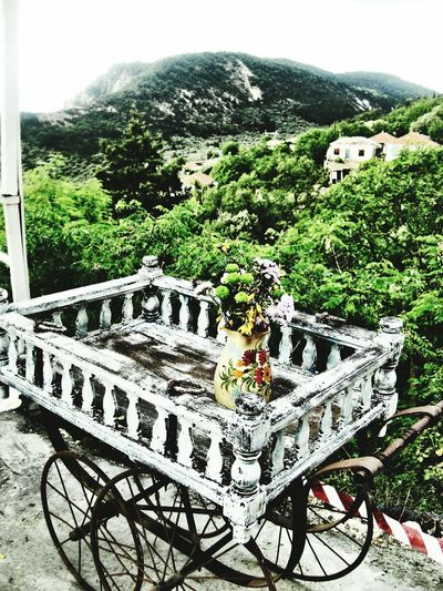 Mountains Green Flowers Greece Lefkada Village Athani View Antiques Wheels Filters Colors Colours