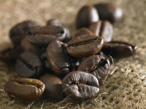 coffee bean Brown Close-up Coffee Bean Day Food Food And Drink Freshness Group Of Objects Indoors  No People Raw Coffee Bean Sack Sackcloth Selective Focus Still Life