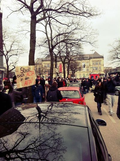 Anti-ACTA at Hamburg Hauptbahnhof Anti-ACTA