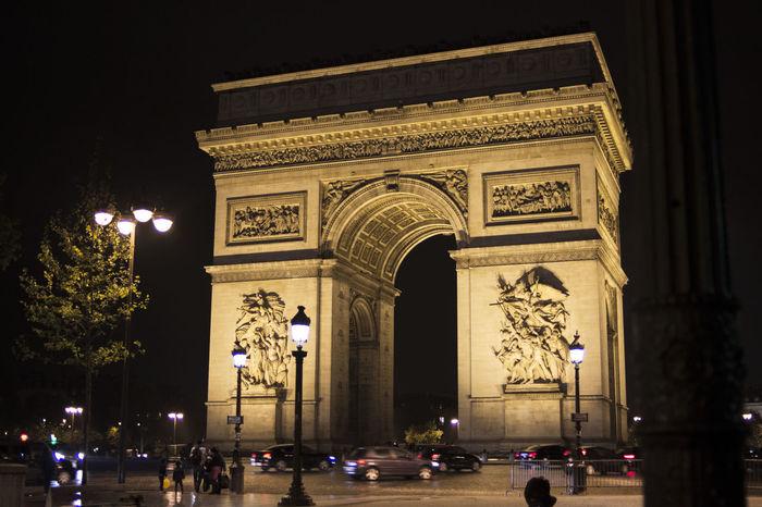 Arc de Triomphe de l'Étoile Arc De Triomphe Arc De Triomphe De L'Étoile Arch Paris Paris ❤ Sightseeing Tourism Travel Triumphal Arch