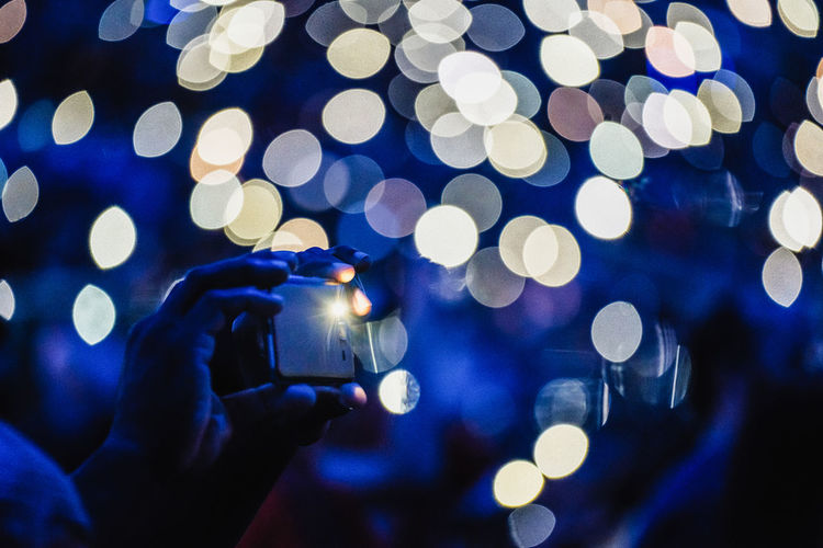 flash lights Bokeh Bokehlicious Defocused Flash Glowing Hands Illuminated Lens Flare Lighting Equipment Night Smartphone X-PRO2