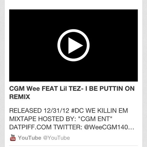 Go Look At Me And My Man Wee New Video Called I Be Puttin On
