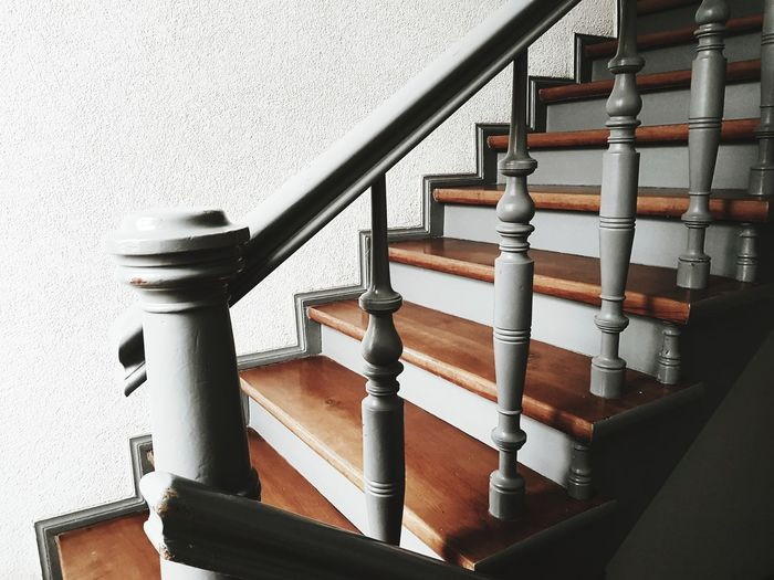 Antique staircase in the old building Indoor At Home Wood - Material Grey Rustic Style Wall Art Rustic Antique Indoors  Steps Pipe - Tube Architecture Close-up Built Structure Spiral Staircase Stairway Steps Wooden Steps And Staircases