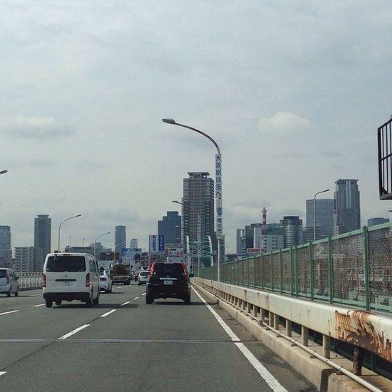 新御堂は朝から大渋滞! クルマだとクーラー効いて快適! (´・Д・)」 Sky OSAKA Kansai ソラ 空雲cloud