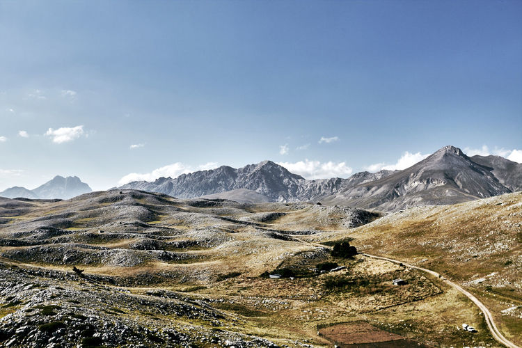 Abruzzo Mountains Gran Sasso Gran Sasso D'Italia Colors Colors Of Autumn Abruzzo - Italy Beauty In Nature Cloud - Sky Colors Of Nature Day Environment Idyllic Landscape Mountain Mountain Peak Mountain Range Nature No People Non-urban Scene Outdoors Remote Scenics - Nature Sky Tranquil Scene Tranquility First Eyeem Photo