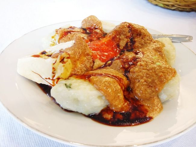 Siomay Ikan bumbu Kacang (Indonesian Street Food) Food And Drink Ready-to-eat Indoors  Food Serving Size Freshness Plate Temptation Meal Dumpling  INDONESIA