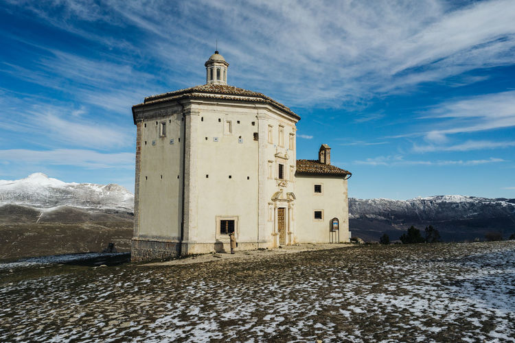 Built Structure Architecture Building Exterior Sky Building Cloud - Sky Day Nature Religion Spirituality Place Of Worship History Mountain Outdoors Sanctuary  Abruzzo