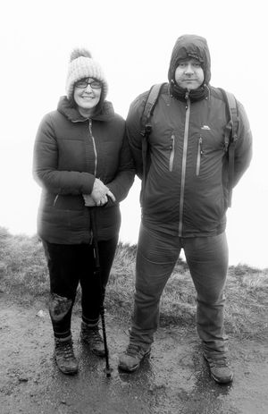 Adult Adults Only Bonding Day Fog Friendship Front View Full Length Happiness Mountain Outdoors Pen-y-ghent People Portrait Real People Senior Adult Senior Men Sky Smiling Standing Three Peaks Togetherness Two People Yorkshire Dales Yorkshire Three Peaks