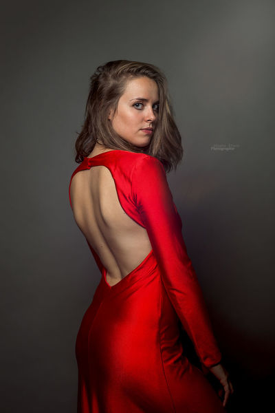 Fashion Woman Portrait Taking Photos