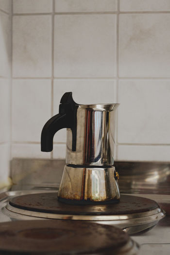 Close-Up Of Coffee Maker In Kitchen