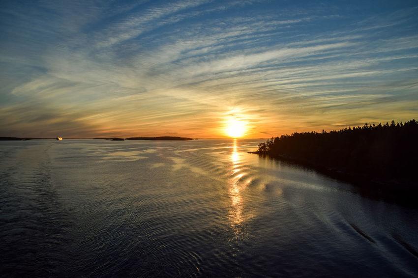 Archipelago Baltic Sea Beauty In Nature Dawn Dawn Of A New Day Landscape Nature No People Ostsee Reflection Scenics Schärengarten Schäreninseln Sea Skärgård Sun Tranquility Travel Destinations Water